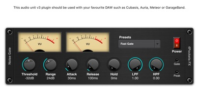 Noise Gate AUv3 Plugin screenshot 1