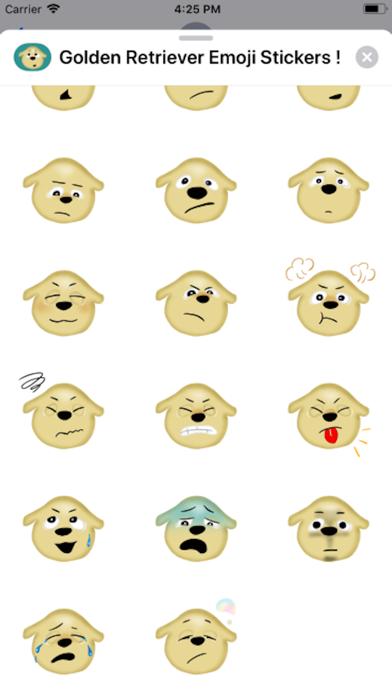 Screenshot of Golden Retriever Emoji Sticker App