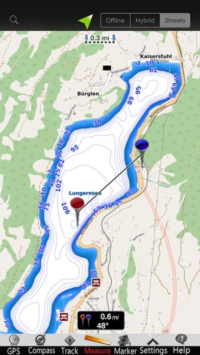 点击获取Lungern - Sarnen lakes Charts
