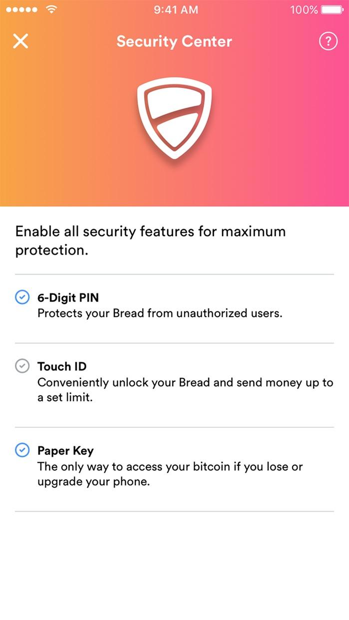 Bread - bitcoin wallet Screenshot