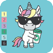Unicorn Pixel Color by number