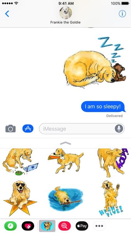 Golden Retriever Illustrated Stickers screenshot-4