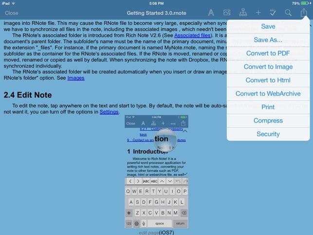 Rich Note & PDF Maker