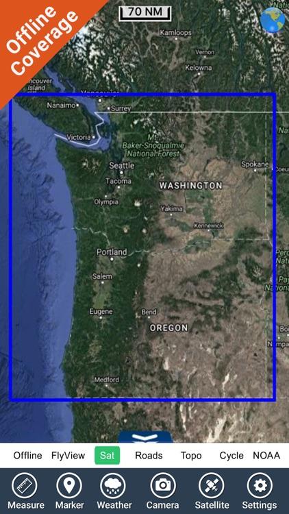 Oregon to Washington HD Charts screenshot-4