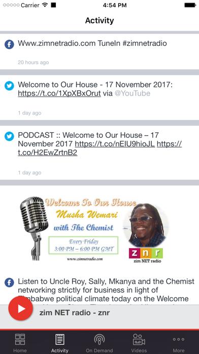 zim NET radio - znr screenshot two