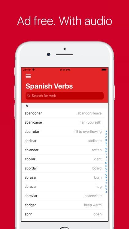 Spanish Verb Conjugator Pro screenshot-0