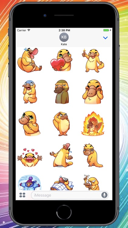 Funny Platypus Stickers