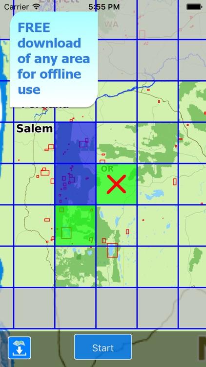 Aqua Map Oregon Lakes GPS HD screenshot-5