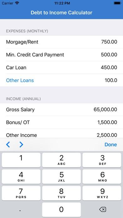 Debt To Income Calculator Screenshots