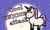 Cool unicorn attack in cosmos