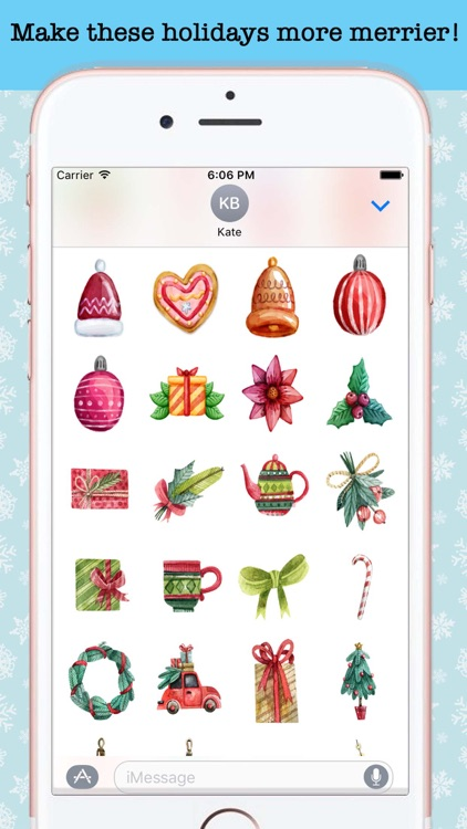 Watercolor Christmas Stickers screenshot-4