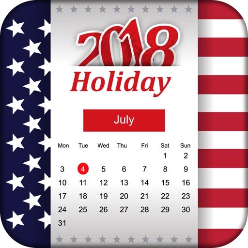 USA Calendar 2018