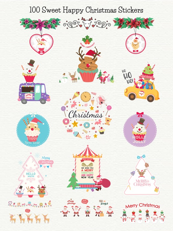 Sweet Happy Christmas Stickers screenshot 6