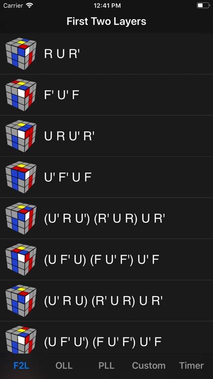 Cube Algorithms Pro