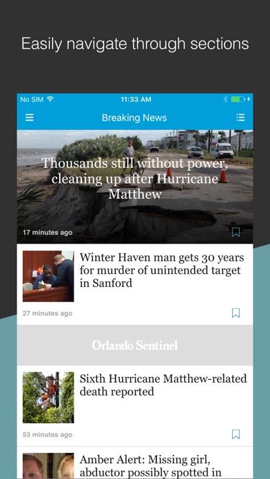 Orlando Sentinel review screenshots