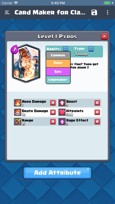 Card Maker for Clash Royale screenshot 1