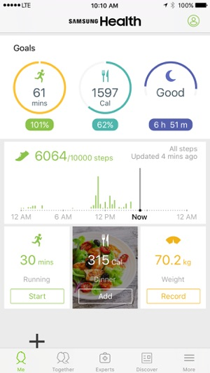 Samsung Health Iphone