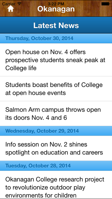 Okanagan College screenshot two