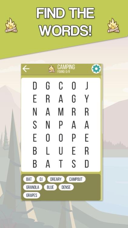 Camping Fun - Word Search