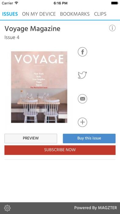 Voyage (Magazine) screenshot 1