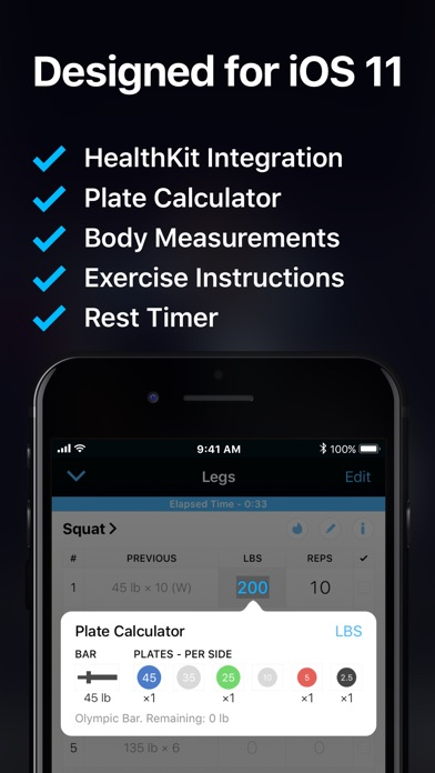 Strong Workout Tracker Gym Log iPhone