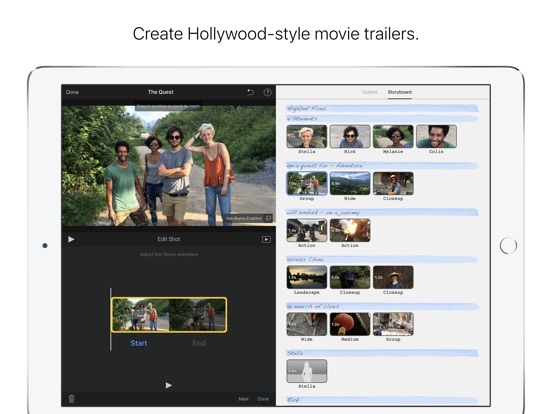 App Store Screenshot of iMovie