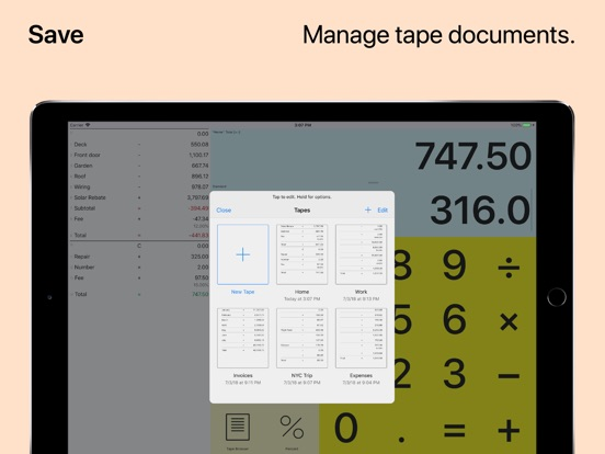 Screenshot #5 for Digits Tape Calculator
