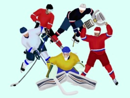 Hockey teams stickers