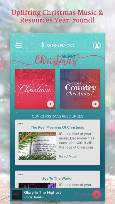 Christmas Radio Stations All Year Round.Cbn Christmas Music Radio App Price Drops
