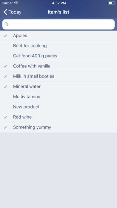 Just Buy! - Shopping list Screenshot
