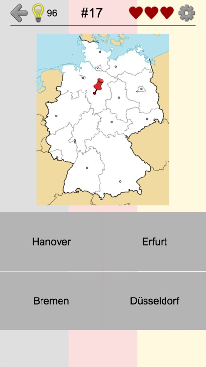 Superb German States   Geography Quiz