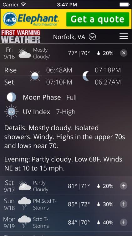 News 3 - First Warning Weather screenshot-3