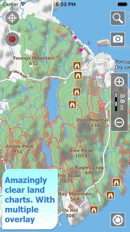 Acadia Trails, GPS Hiking maps screenshot-0