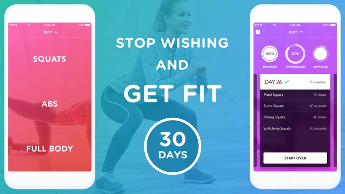 30 Day Squat And Abs Challenge Screenshot