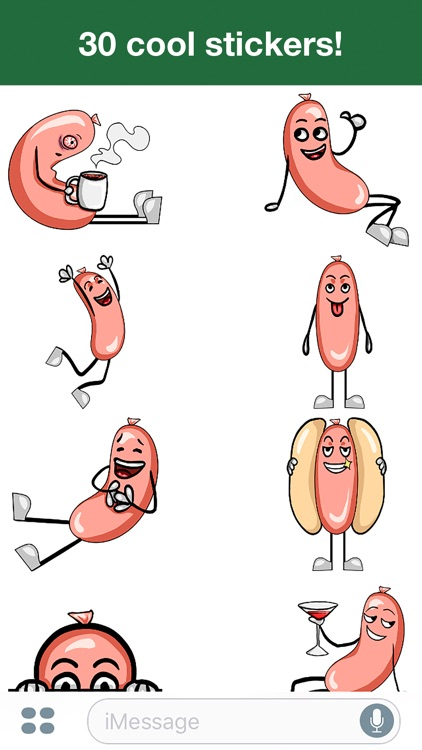 Hot Sausage - Cute stickers