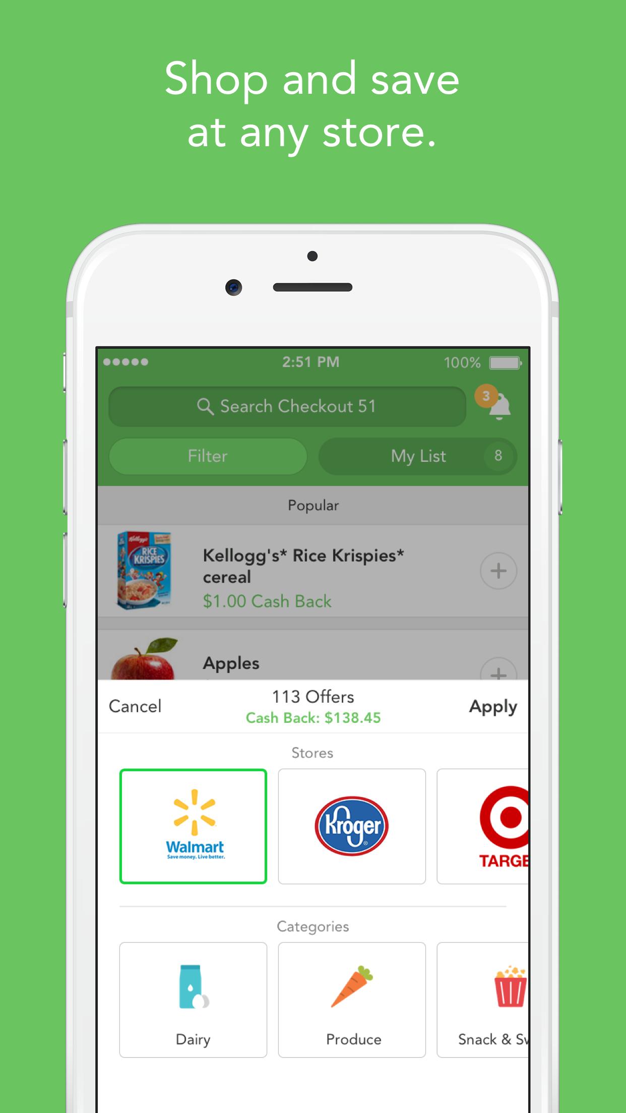 Checkout 51: Cash Back Savings Screenshot