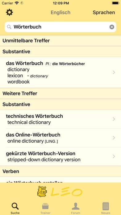 Leo Wörterbuch Und übersetzungen Für Das Iphone Appflieger