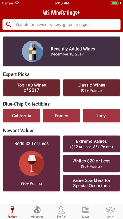WineRatings+ by Wine Spectator