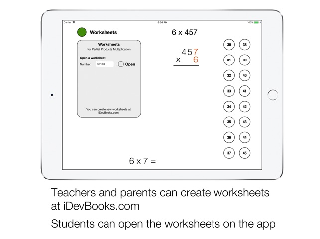 Partial Product Multiplication On The App Store