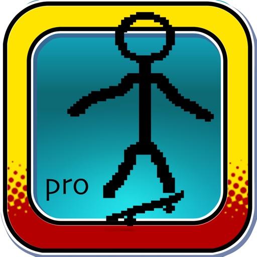 Stick-man Skateboard Extreme - Mini Pocket Skate