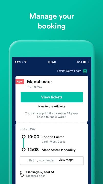 Trainline UK: Train & Bus App screenshot-3