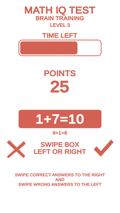 Math IQ Test + Brain Training screenshot 2