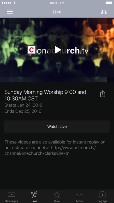 oneChurch.tv screenshot two