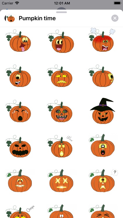 Pumpkin time stickers