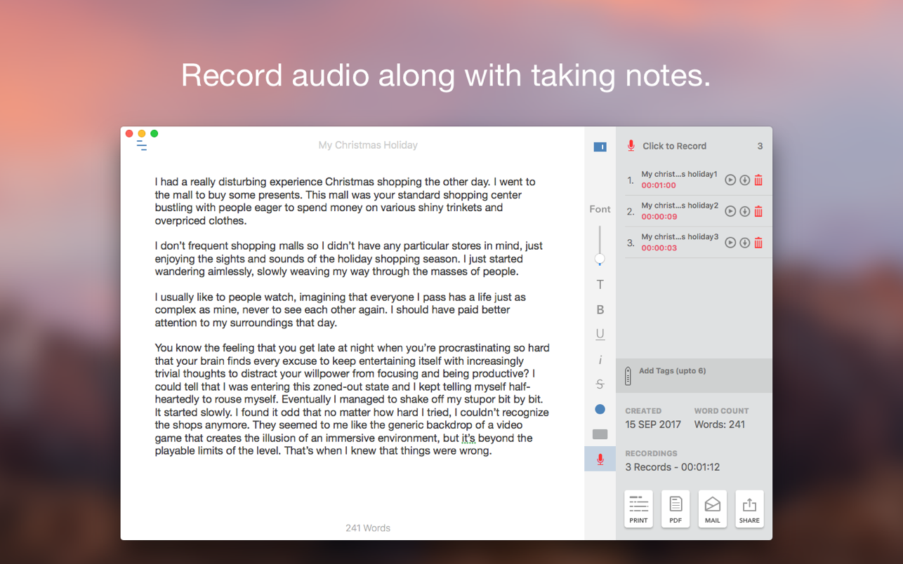 Auditory - Rec lecture & notes