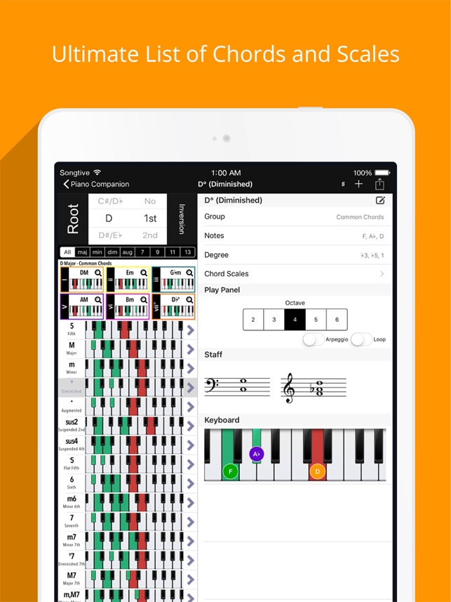 Piano Companion Chordsscales On The App Store