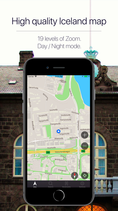 Iceland Offline Navigation Screenshot
