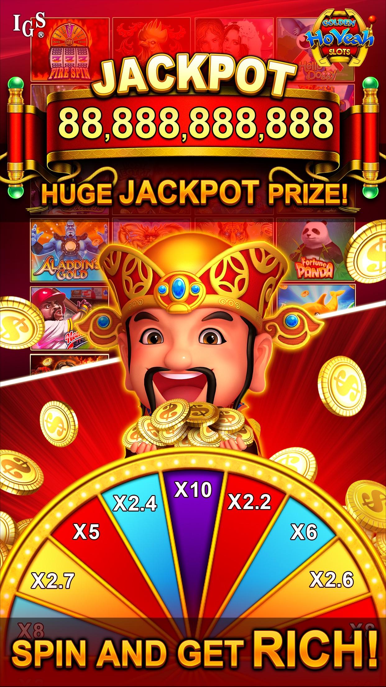 Golden HoYeah Slots Casino Screenshot