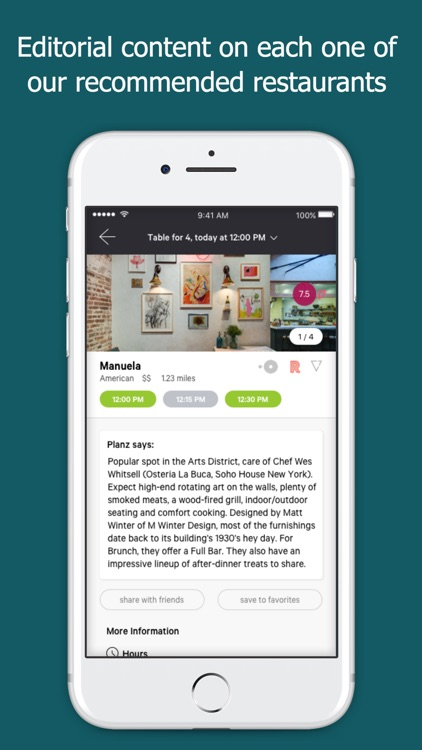 Planz Restaurant Reservations By Planz Inc