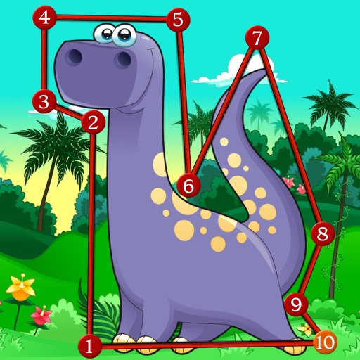 Dino Dot Connect dots for kids